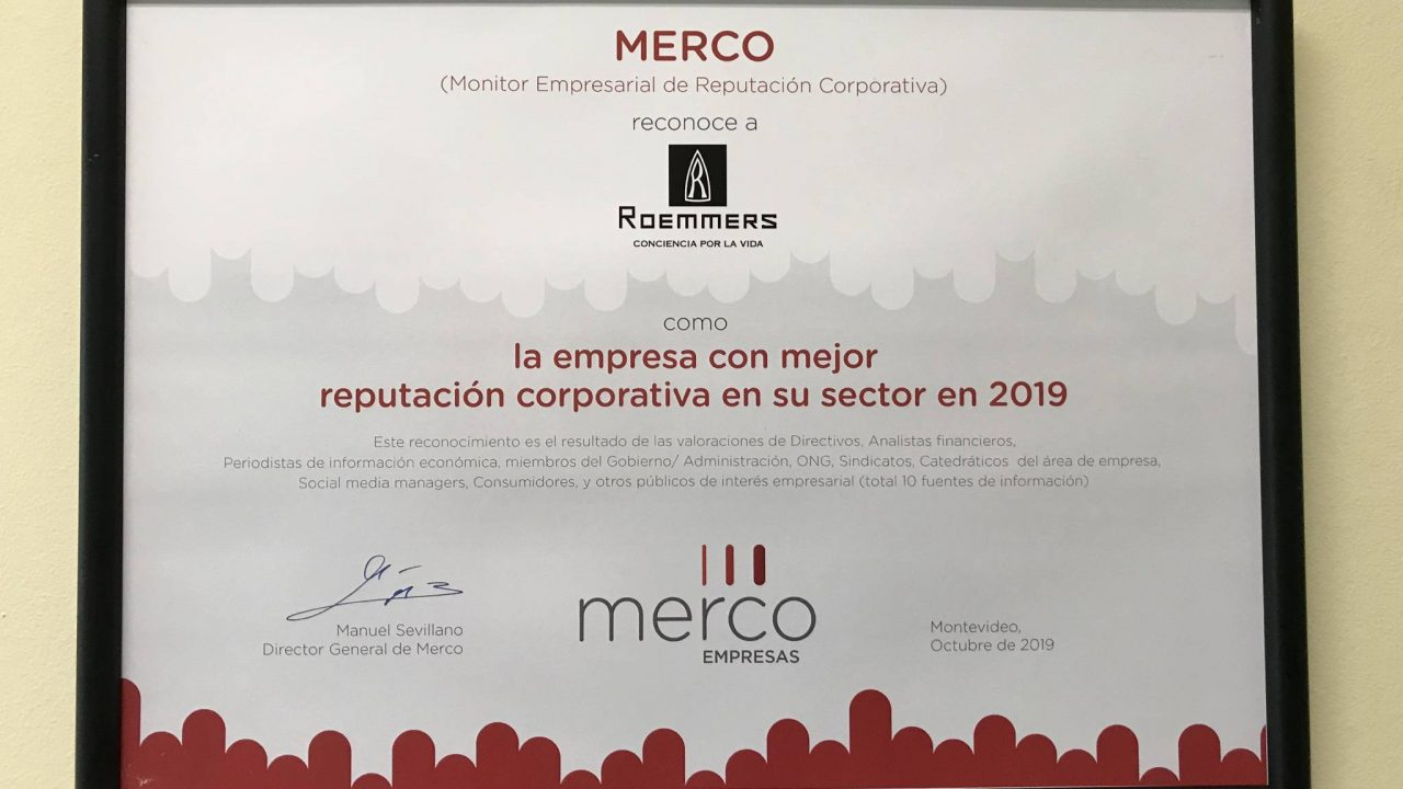 MERCO reconoce a  Roemmers