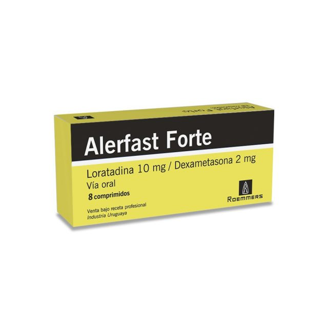ALERFAST FORTE 10 + 2 mg. x 8 comprimidos
